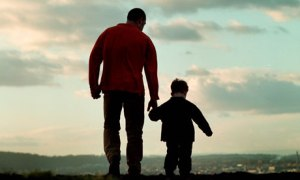 A-father-and-son-walking-007